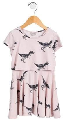 Paul Smith Girls' Layered Dinosaur Dress