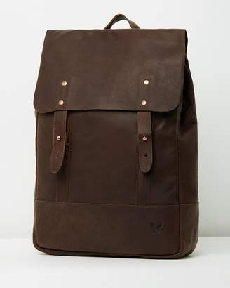 Lyle & Scott Leather Backpack