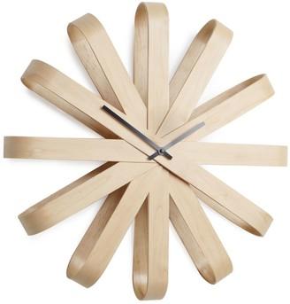 Umbra Ribbonwood Wall Clock