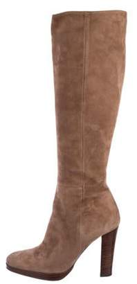 Barbara Bui Suede Knee-High Boots brown Suede Knee-High Boots