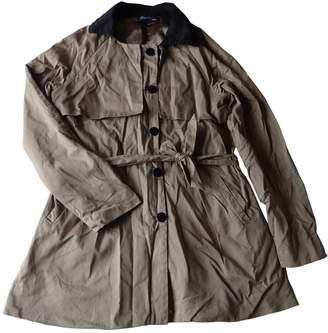 Sarah Wayne Beige Cotton Trench Coat for Women