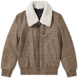 Ami Checked Sherpa Collar Jacket