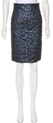 Blumarine Wool Textured Skirt