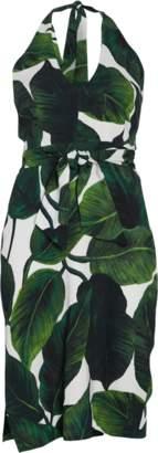 Milly Banana Leaf Print Vanessa Dress