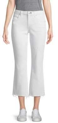 Amo Kick High-Rise Cropped Flare Jeans