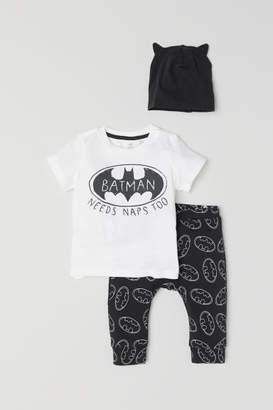 H&M Printed Jersey Set - White