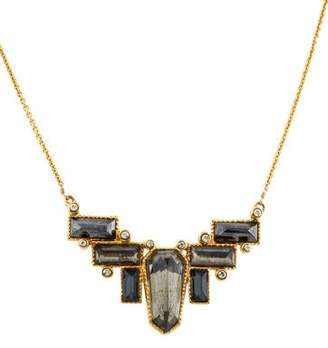 Alexis Bittar Hematine, Quartz Doublet & Crystal Pendant Necklace
