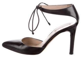 Reed Krakoff Leather Lace-Up Pumps