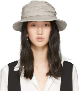 Y's Ys Beige Gather Cloche Hat