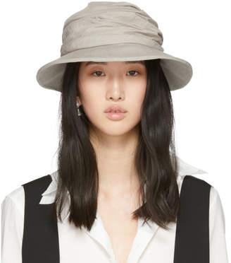 Y's Ys Beige Gather Cloche Hat