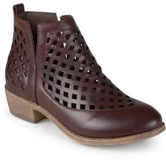 Brinley Co. Women's Chunky Heel Caged Cut-Out Ankle Booties
