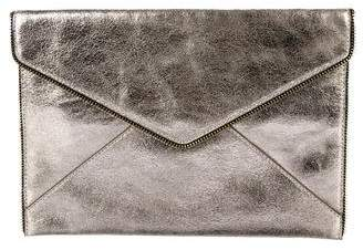 Rebecca Minkoff Metallic Leather Leo Envelope Clutch