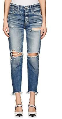 Moussy Women's Garnet Distressed Skinny Jeans - Md. Blue