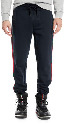 Moncler Men's Drawstring Side-Stripe Sweatpants