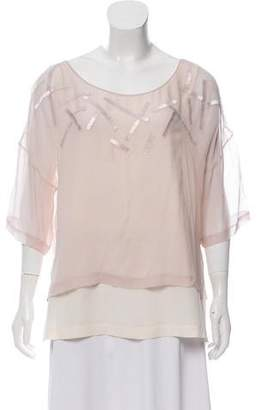 Robert Rodriguez Silk Beaded Blouse