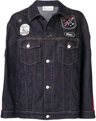 RED Valentino patch detailed denim jacket