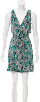 Diane von Furstenberg Oblixe Printed Sleeveless dress
