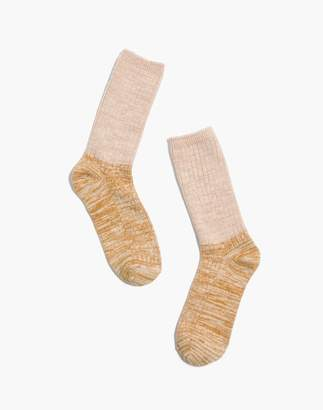 Madewell Colorblock Ribbed Trouser Socks