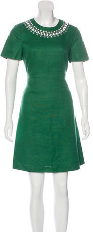 Kate SpadeKate Spade New York Embellished A-Line Dress