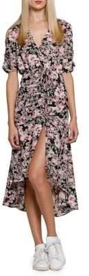 Walter Baker Wendel Floral Wrap Midi Dress