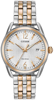 DRIVE FROM CITIZEN ECO-DRIVE Drive from Citizen Assortment Womens Two Tone Bracelet Watch-Fe6086-74a