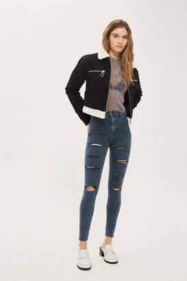Topshop Moto sulphur super ripped joni jeans