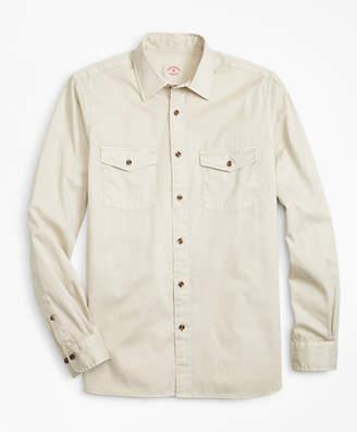 Brooks Brothers Garment-Dyed Cotton Twill Sport Shirt