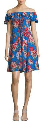ASTR the Label Floral-Print A-Line Dress