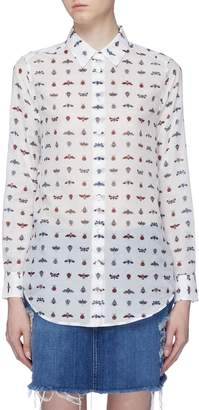 Equipment 'Essential' insect print crepe shirt