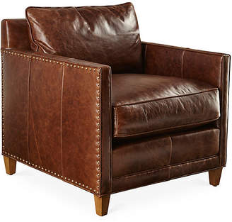 Robin Bruce Springfield Chair - Tuscan Mink Leather
