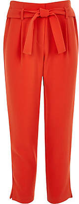 River Island Girls Red tie waist trousers