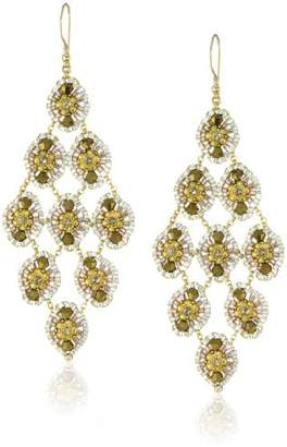 Miguel Ases Swarovski Miyuki Rondelle Drop Earrings