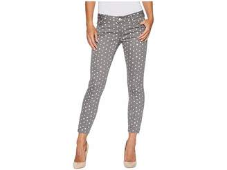 U.S. Polo Assn. Skinny Ankle Brit Stretch Denim Jeans in Grey/Polka Dot Women's Jeans