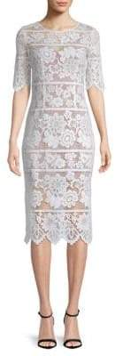 For Love & Lemons Floral Lace Midi Dress