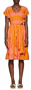 Ace&Jig Women's Luna Striped Cotton Belted Midi-Dress