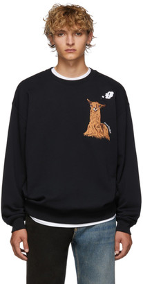 Acne Studios Black Forba Animal-Embroidered Sweater