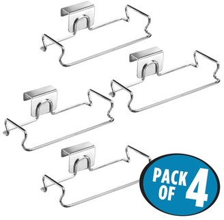 InterDesign Classico Over the Cabinet Bag Holder, Pack of 4