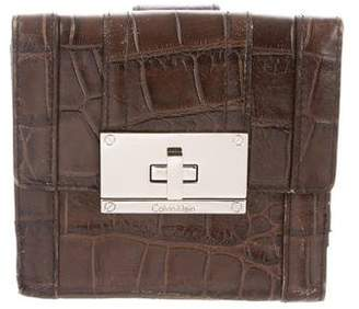 Calvin Klein Embossed Compact Wallet