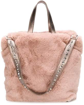 Ash fuzzy shoulder bag
