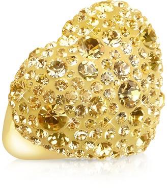 Ileana Creations Gisèle St.Moritz Fantasmania - Gold Crystal Big Heart Ring