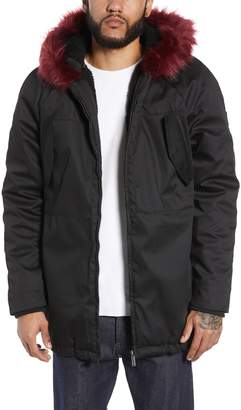 NATIVE YOUTH Parka with Faux Fur Trim