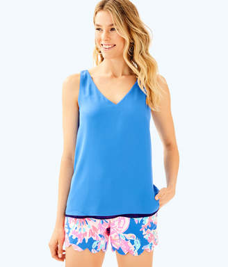 Lilly Pulitzer Womens Florin Reversible Sleeveless V-Neck Tank