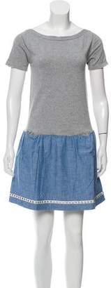Sacai Short Sleeve Mini Dress