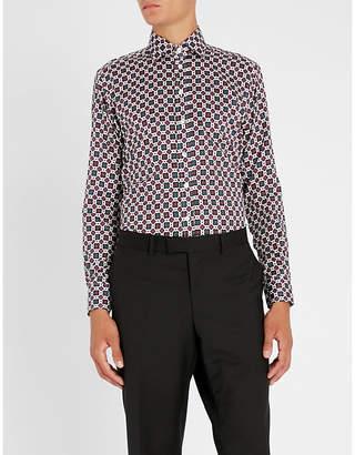 Etro Slim-fit medallion-print cotton shirt