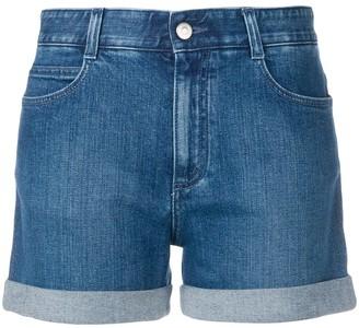 Stella McCartney turned up hem denim shorts