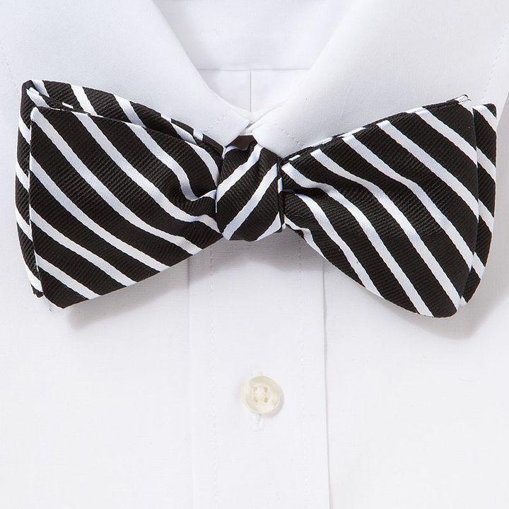 Croft & barrow® mod striped self-tie bow tie