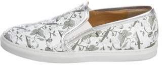 Cesare Paciotti Printed Slip-On Sneakers