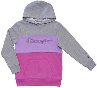 Champion Colorblocked Hoodie Girls Raglan Sleeve Hoodie-Big Kid