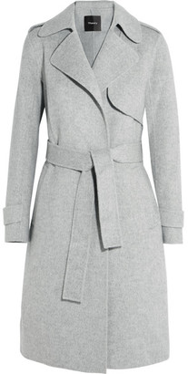 Theory - Oaklane Brushed Wool And Cashmere-blend Coat - Gray $795 thestylecure.com