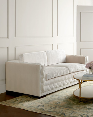 At Horchow · Haute House Bently White Tufted Sofa